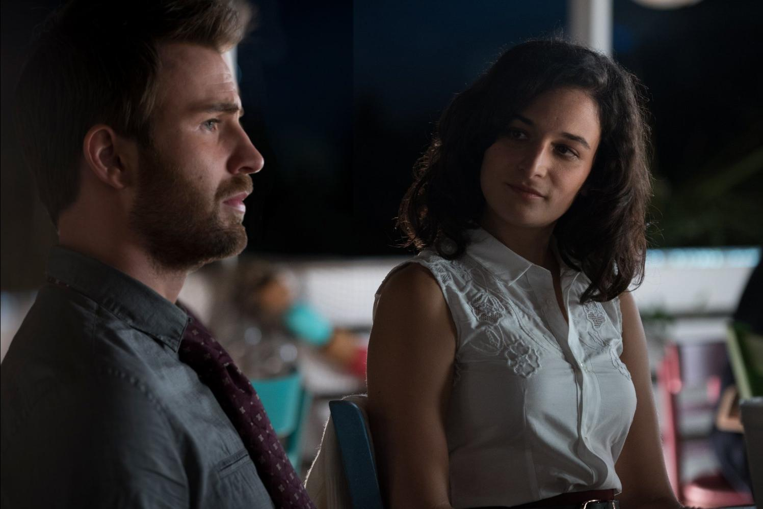 """Jenny Slate and Chris Evans in """"Gifted"""""""