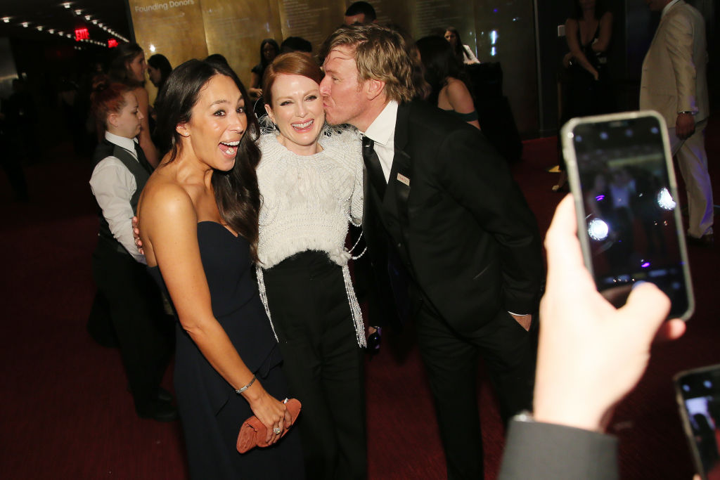 Joanna Gaines, Julianne Moore, and Chip Gaines