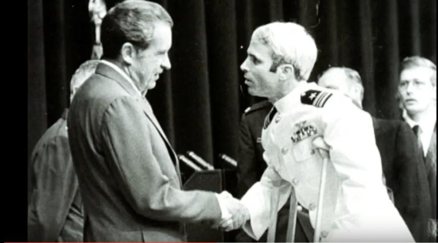 John McCain returning from Vietnam