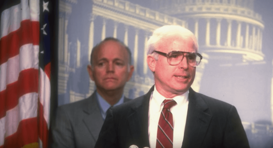 John McCain as a senator in the '80s
