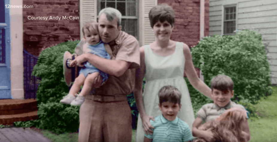 John McCain with his first wife and family