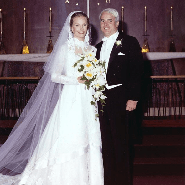 John McCain on his wedding day to Cindy McCain