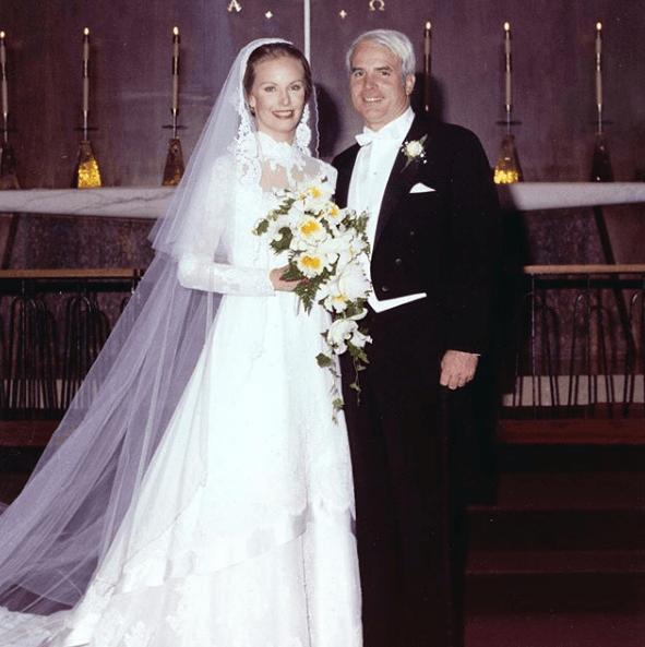 John McCain on his wedding day to Cindy McCain