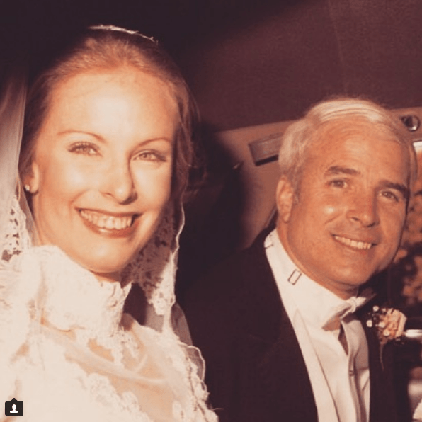 John McCain with wife Cindy