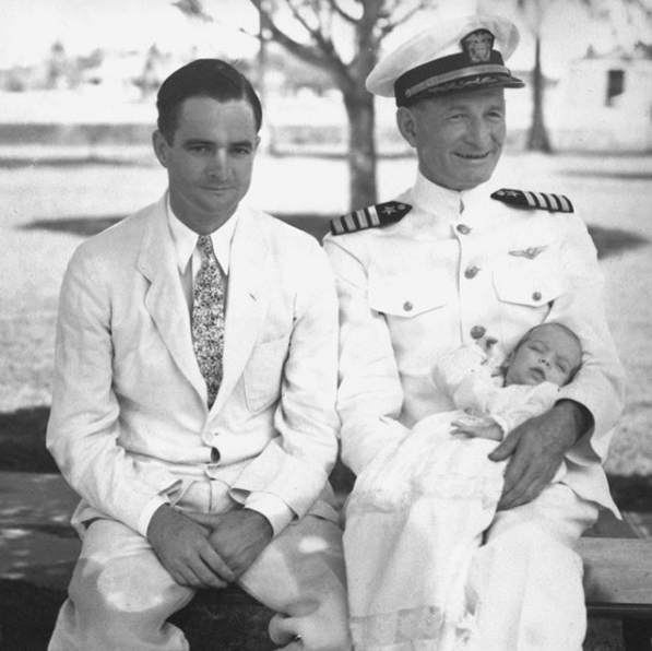 John McCain as a baby with his father and grandfather