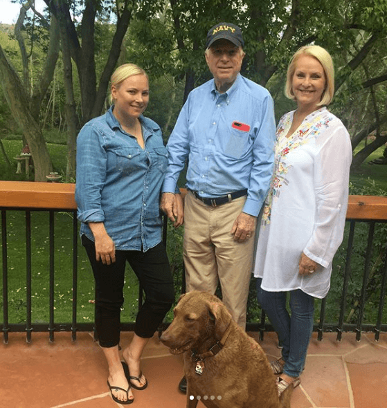 John McCain with Meghan McCain and wife Cindy