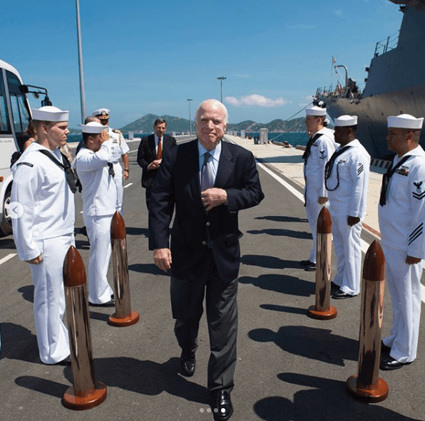 John McCain with the Navy