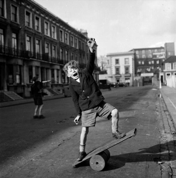 A boy enjoying himself on a Wiggle Board