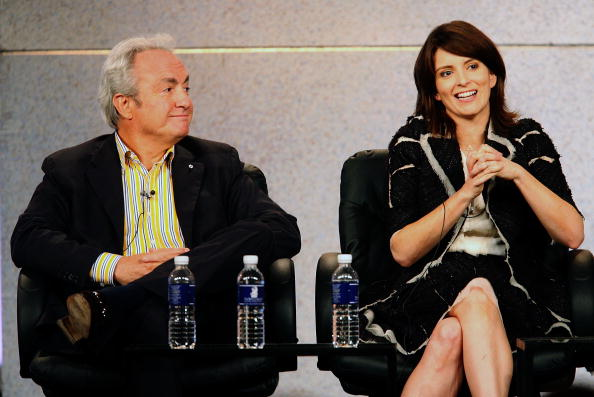 """Executive Producer Lorne Michaels (L) and Executive Producer/Writer/Actress Tina Fey from the series """"30 Rock"""""""