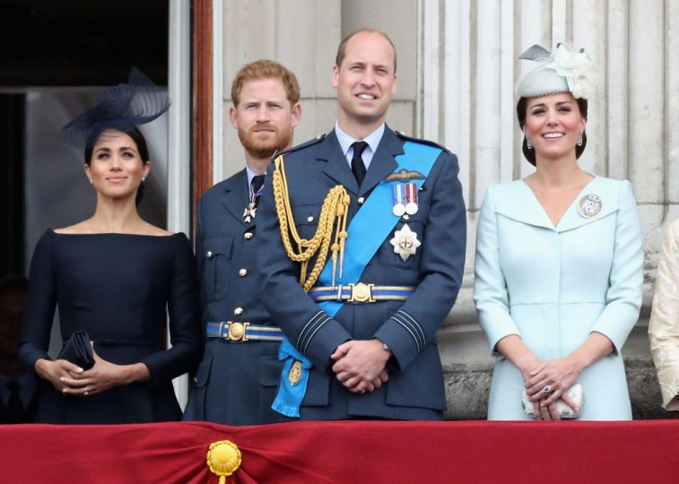 Meghan Markle, Prince Harry, Prince William, and Kate Middleton