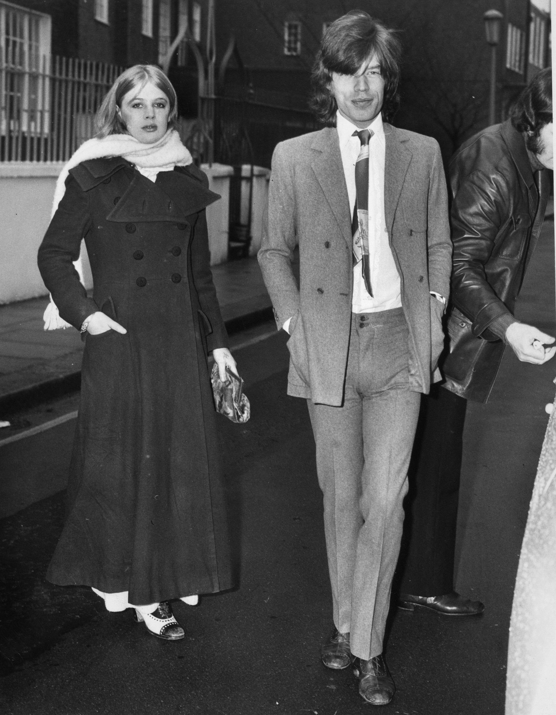 Mick Jagger 1970 Marianne Faithfull