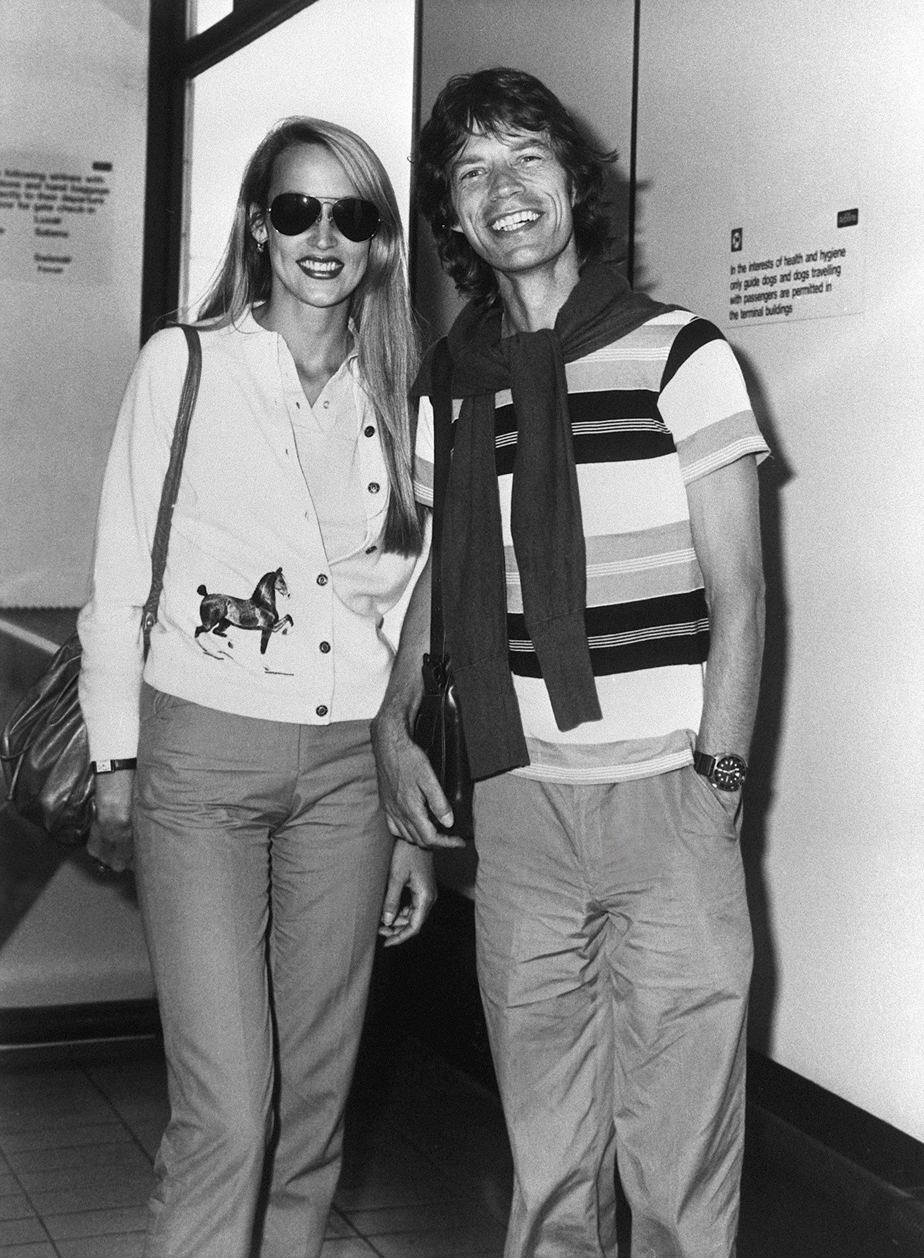 Mick Jagger 1981 Jerry Hall