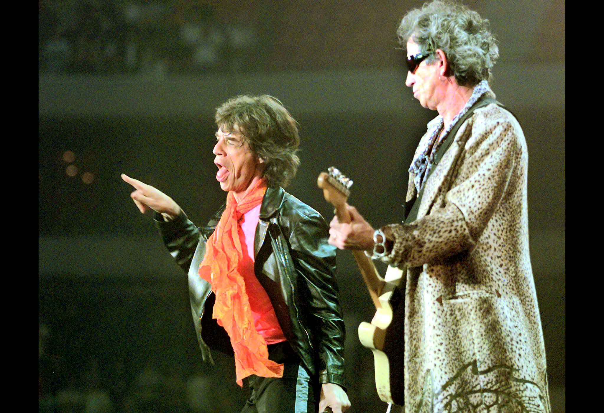 Mick Jagger 1990 Keith Richards Rolling Stones