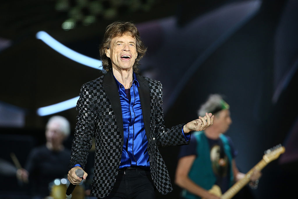 Mick Jagger in action