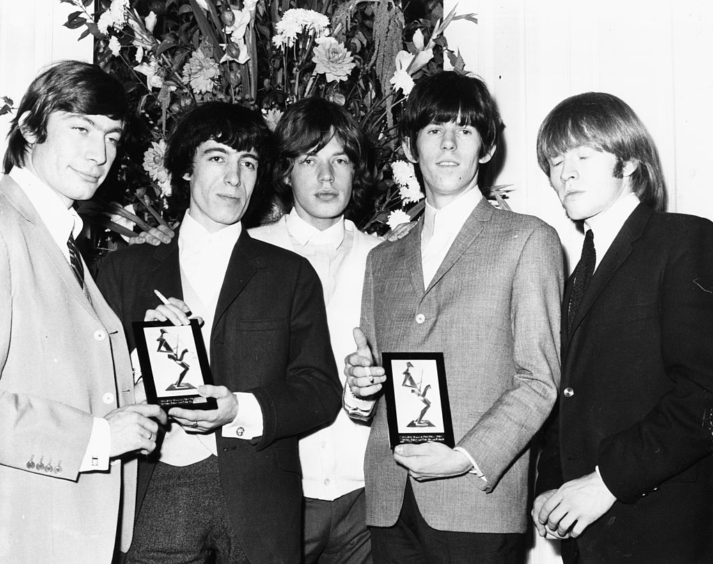 Mick Jagger (middle) and the Rolling Stones in 1964