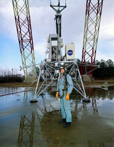 Neil Armstrong training at Langley's Lunar Landing Research Facility