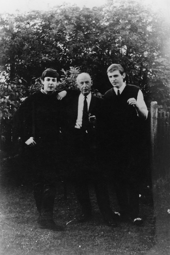 Paul McCartney with his father and brother Mike
