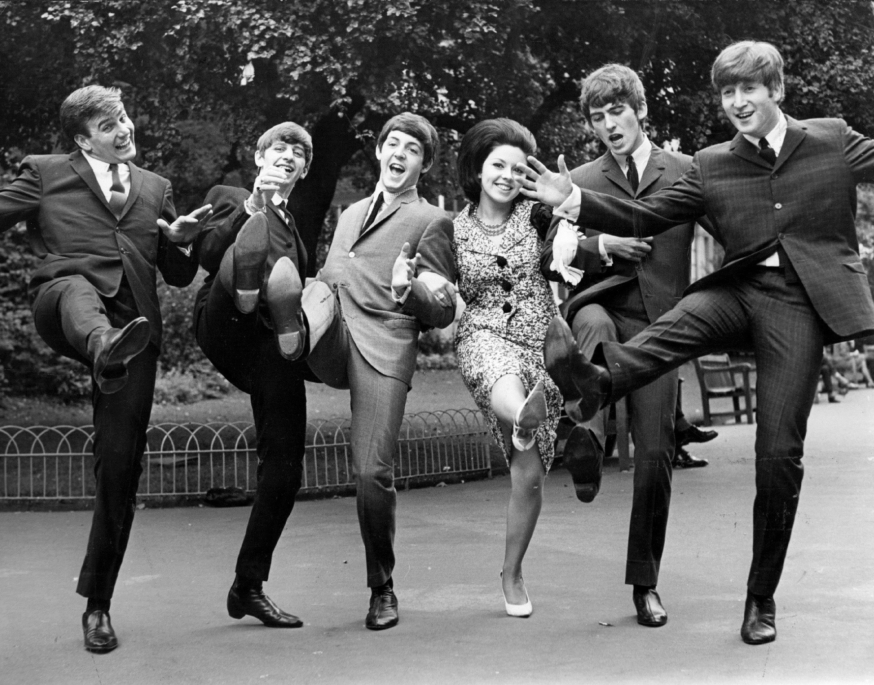 The Beatles High kicking winners of the Melody Maker poll awards for 1963