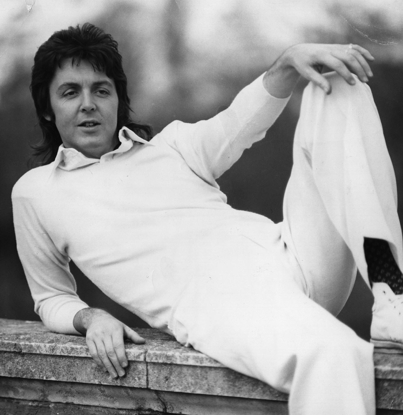 Paul McCartney sporting a fantastic mullet.