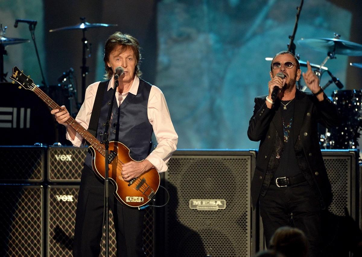 Paul McCartney and Ringo Starr Grammys 2014