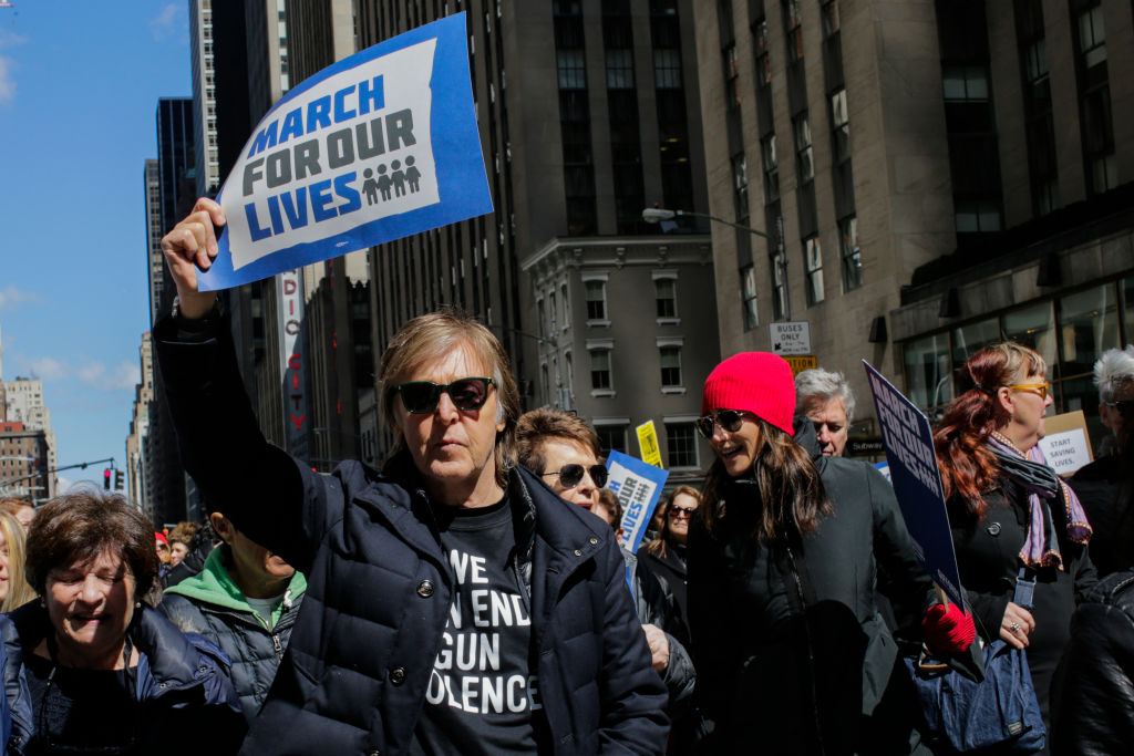 Paul McCartney March for Our Lives New York City March 24 2018