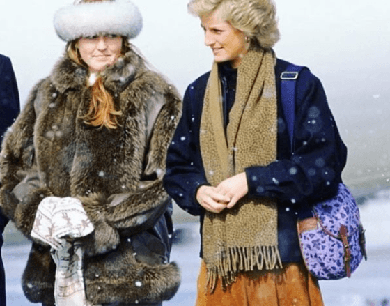 Princess Diana and Sarah Ferguson Duchess Of York