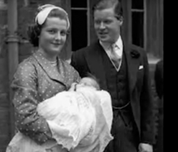 Princess Diana's parents shortly after her birth