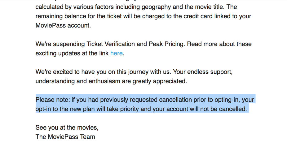 moviepass account
