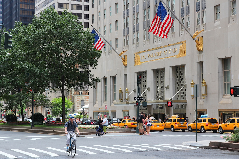 The Waldorf-Astoria hotel in New York
