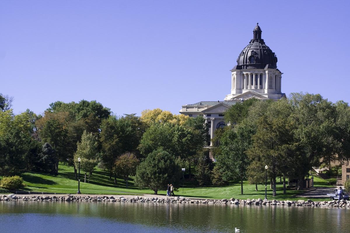 The state capitol in Pierre, South Dakota