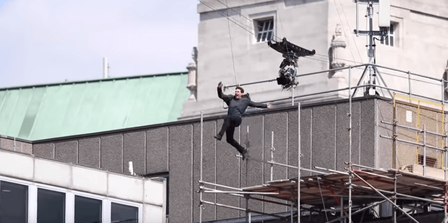Tom Cruise doing stunts for Mission: Impossible - Fallout
