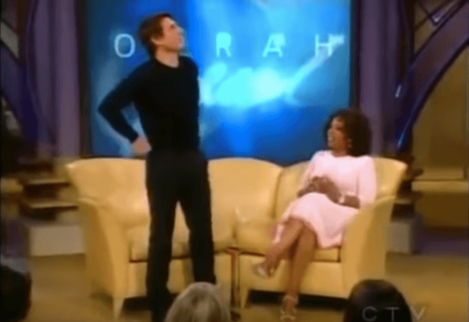 Tom Cruise with Oprah