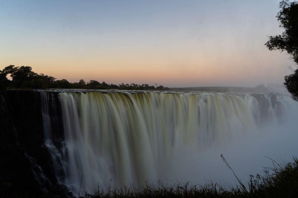 A picture taken on June 29, 2018 at Victoria Falls