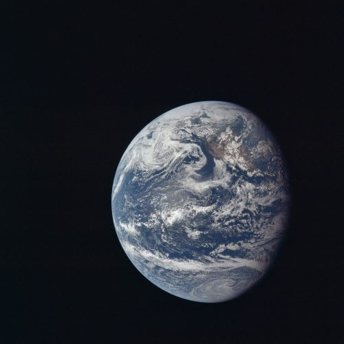 View of Earth taken by Apollo 11 crewmembers