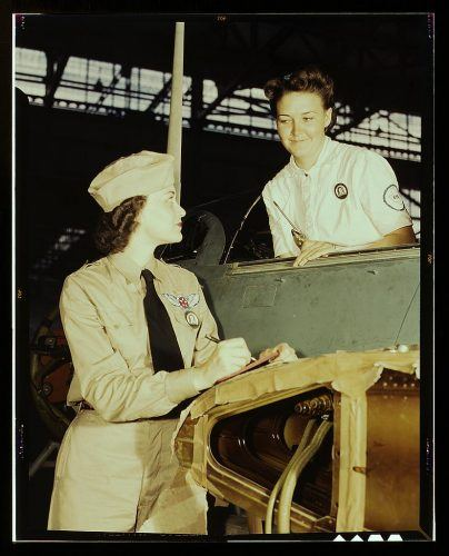 Women at Naval Air Base Corpus Christi during World War II