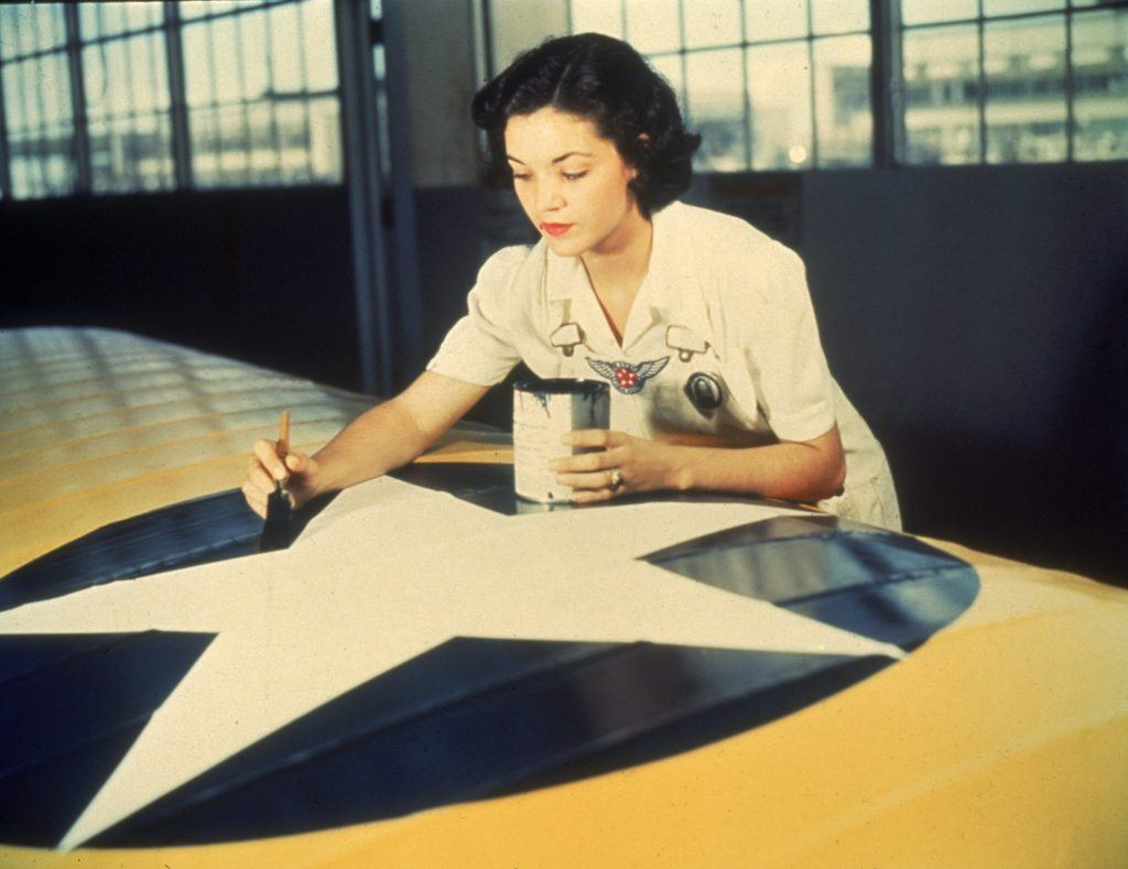 painting an airplane