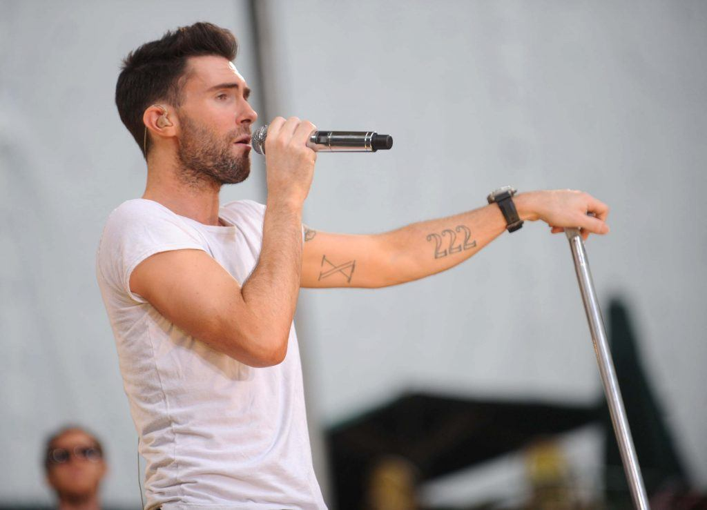 Adam Levine of Maroon 5 performs on ABC's Good Morning America
