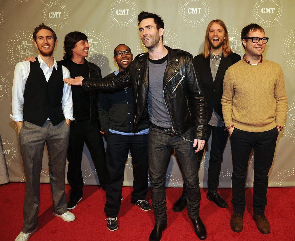 Rock Group Maroon 5 attend the CMT Artists of the Year