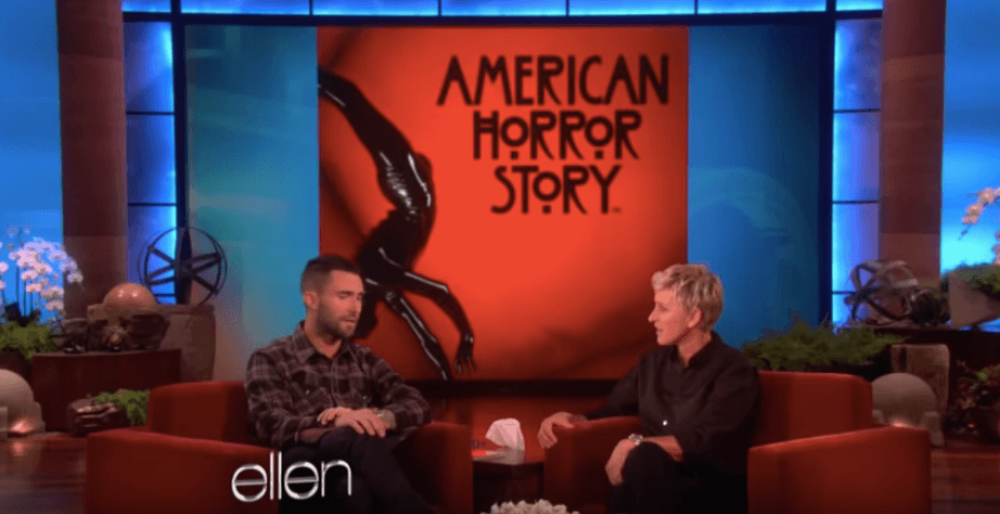 Adam Levine on Ellen discussing his role in American Horror Story