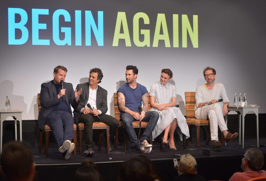 Adam Levine at the Begin Again press conference