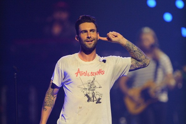Adam Levine of Maroon 5 performs onstage during the iHeartRadio Music Festival