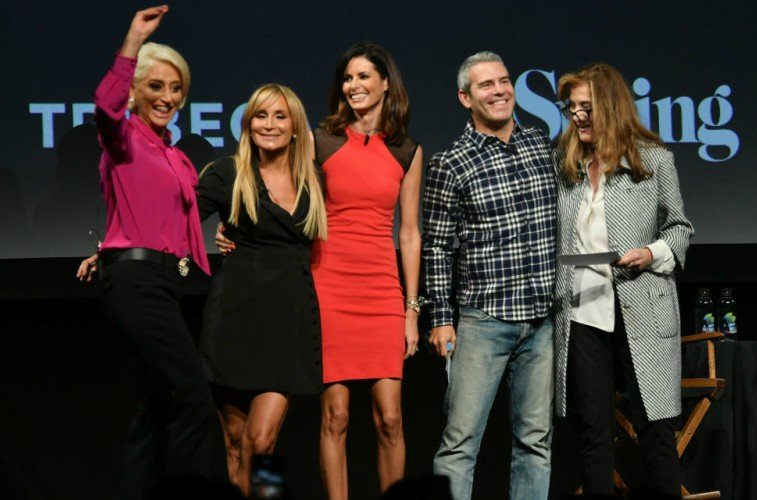 Lisa Shannon, Sonja Morgan, Tinsley Mortimer, Dorinda Medley and Andy Cohen