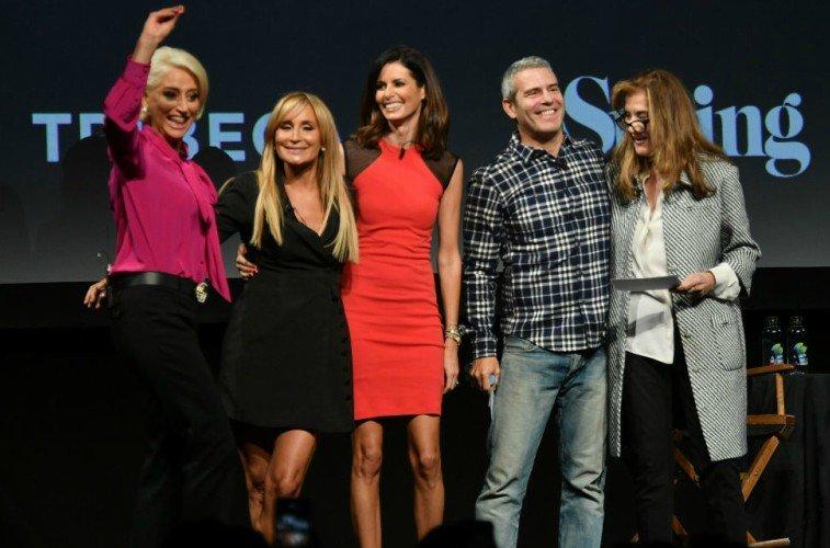 Lisa Shannon, Sonja Morgan, Tinsley Mortimer, Dorinda Medley and Andy Cohen