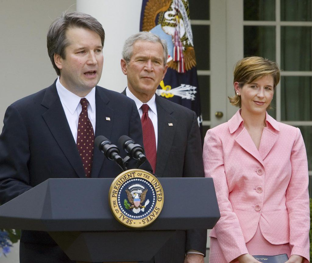 Brett Kavanaugh, George W. Bush, and Ashley Kavanaugh