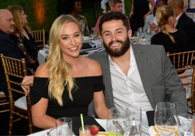 Baker Mayfield and Emily Wilkinson