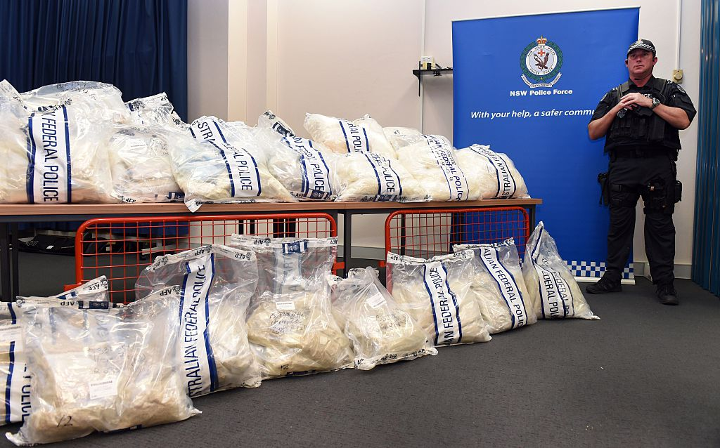 seized methamphetamines in Australia