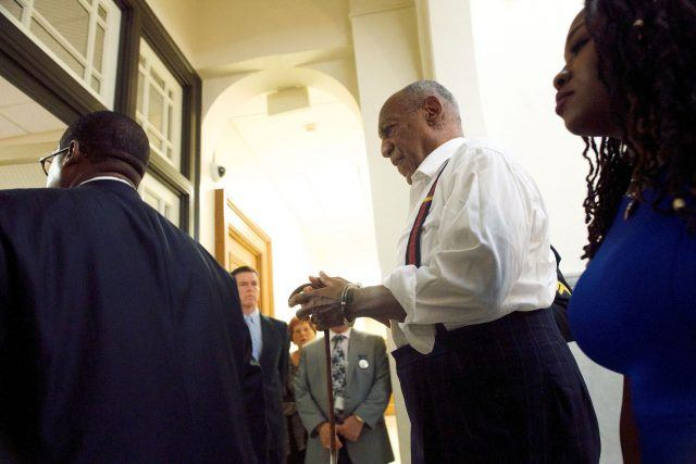Bill Cosby is taken into custody in handcuffs at Montgomery County Courthouse