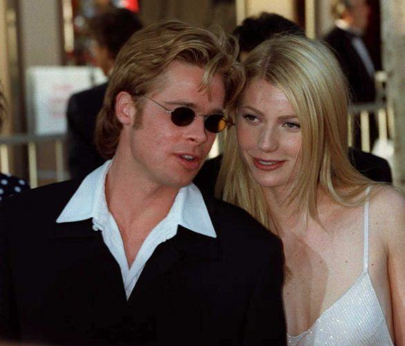 Brad Pitt and Gwyneth Paltrow arrive for the for the 68th annual Academy awards in 1996