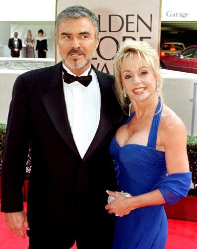 Burt Reynolds and Pam Seals arrive for arrive for the 55th Annual Golden Globe Awards in 1998