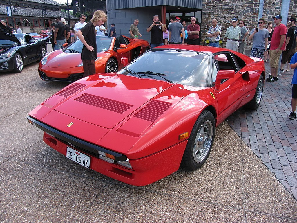 David Letterman's car collection Ferrari 288 GTO